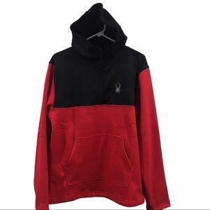Spyder 3/4 zip racing red hoodie sweater NWT